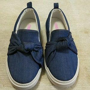 Gymboree girls slip on jean sneakers